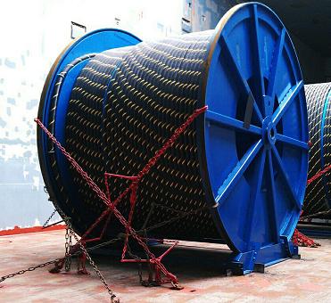 Перевозка кабельных барабанов на трале по России