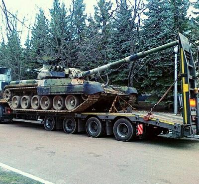 Транспортировка военной техники