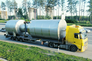 Перевозка резервуаров на трале