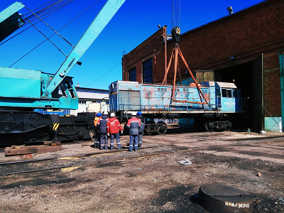 Перевозка вагона автотранспортом на трале
